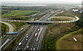 TQ0376 : M25 Junction 14 from the air by Thomas Nugent