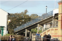 TQ8485 : View of the footbridge over the railway from the High Street #3 by Robert Lamb
