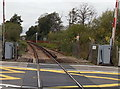 SZ3295 : 50mph railway speed limit, Lymington by Jaggery