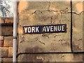 TQ7667 : Vintage street nameplate, York Avenue, Gillingham by Chris Whippet