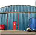TF7923 : Blister hangar on the Waterford Industrial Estate (detail) by Evelyn Simak