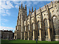 TR1557 : Canterbury Cathedral: south aisle and south-west tower by Stephen Craven