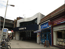 TQ2673 : Earlsfield station entrance by Stephen Craven