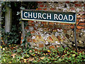 TM2198 : Church Road sign by Adrian Cable