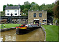 SJ8451 : Working boat by the Harecastle Tunnel, Stoke-on-Trent by Roger  Kidd