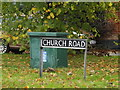 TM2095 : Church Road sign by Adrian Cable