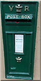 SS8591 : Green fake Victorian postbox in Castle Street, Maesteg by Jaggery