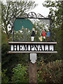 TM2494 : Hempnall Village sign by Adrian Cable