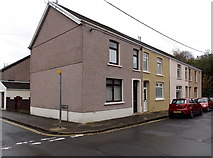 SS8591 : Short row of houses at the southern end of Meadow Street, Maesteg by Jaggery