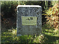 TQ5071 : Plaque, Joydens Wood by Stephen Craven