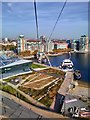 TQ4080 : Emirates Air Line Cable Car at Royal Victoria Dock by PAUL FARMER