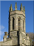 SO9596 : Bilston - St Mary's CofE Church on Oxford Street - tower by Dave Bevis