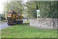 SP4515 : Highway maintenance paused on the A4095 Bladon Road by Roger Templeman