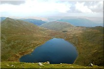 NY3415 : Red Tarn from Helvellyn by Anthony Parkes