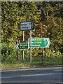 TM1682 : Roadsigns on the A140 Dickleburgh Bypass by Adrian Cable