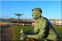 NX3343 : Fisherman's Statue, Port William by Billy McCrorie