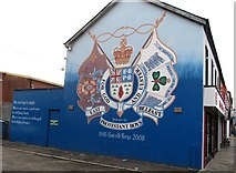 J3674 : The East Belfast Protestant Boys mural in Hemp Street, off Newtownards Road by Eric Jones