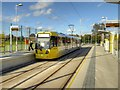SJ8089 : Moor Road Metrolink Stop, Inbound by David Dixon