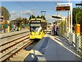 SJ8090 : Metrolink Manchester Airport Line, Northern Moor Tram Stop by David Dixon