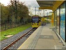SJ8092 : Tram Leaving Sale Water park by David Dixon