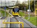 SJ8092 : Tram Arriving at Sale Water Park by David Dixon