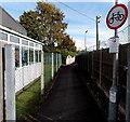 SJ5129 : No cycling ahead, Wem by Jaggery