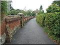 TM3569 : Church Wall by Keith Evans