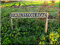 TM1882 : Harleston Road sign by Adrian Cable