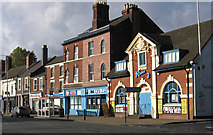 SO9596 : Bilston - Shops on Mount Pleasant - E end by Dave Bevis