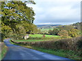 ST4794 : Autumn scene along the road from Mynydd-bach to Itton by Ruth Sharville