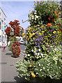 SY1287 : Fore Street flowers by Neil Owen