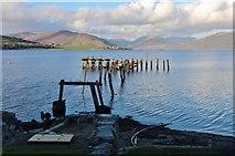 NS0767 : Port Bannatyne's derelict pier by Alan Reid
