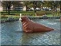 NS4864 : Fountain Gardens: fountain detail by Lairich Rig