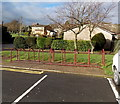 ST2590 : Bicycle racks near a school and leisure centre in Risca by Jaggery