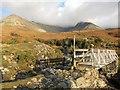 NG4121 : Footbridge over Allt Coire na Banachdich by Richard Dorrell