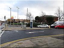 J3674 : Connswater Retail Park viewed across the junction of Albertbridge Road and Newtownards Road by Eric Jones