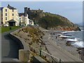 SH4937 : The seafront and castle, Criccieth by Robin Drayton