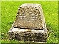 SD7807 : Memorial Stone, St Thomas' Churchyard by David Dixon