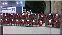 TQ2878 : Remembrance wreaths, Victoria station, November 11th 2014 by Christopher Hilton