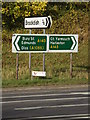 TM2079 : Roadsigns on the A143 The Street by Adrian Cable