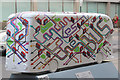 TQ2979 : Bus Art, 'London Takes the Bus' by Oast House Archive