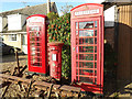 TM1682 : Telephone Boxes & Private Edward VII Postbox by Adrian Cable