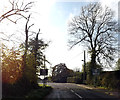 TM1682 : Entering Dickleburgh on Norwich Road by Adrian Cable
