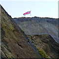 SS5147 : Union flag on Capstone Hill by David Lally