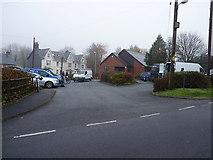 SN8846 : Llanwrtyd Wells Health Centre & carpark by Richard Law