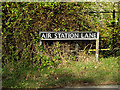 TM1982 : Air Station Lane sign by Adrian Cable