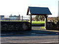 SJ3395 : Irlam Rd. entrance to church grounds by Norman Caesar