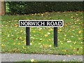TM1578 : Norwich Road sign by Adrian Cable