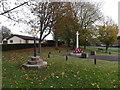 TM1578 : Scole Village sign & Scole War Memorial by Geographer