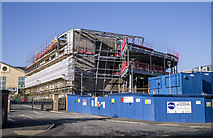 J5081 : Theatre construction, Bangor by Rossographer